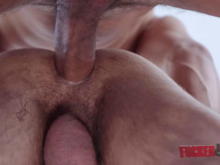 Raunchy anal plow with internal cumshot