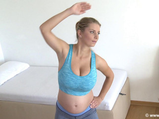 Clara demonstrate features sport for knocked up damsels