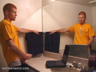 Tristian Bathroom Stroking