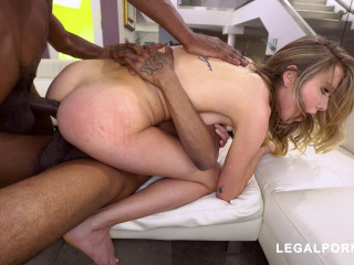 Pretty Haley Reed Assfucked & DP'ed By Huge Black Cocks