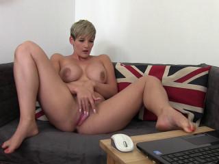 Finger Fucking Watching Lesbian Porn