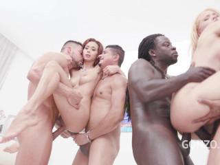 Assfucking intercourse with handballing & scrotum deep fuckign for Veronica Leal & Natasha Teenie