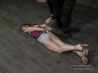 Hot bound dolls banged and made to deep-throat pecker in taut strap restrain bondage