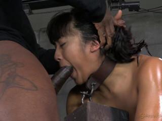 Hot Filipina Mia Li is Bound, Oiled, Brutally Face Fucked , HD 720p
