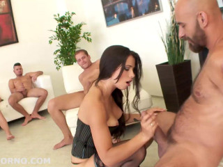Sperm Gangbang Party With DP For Mira Cuckold
