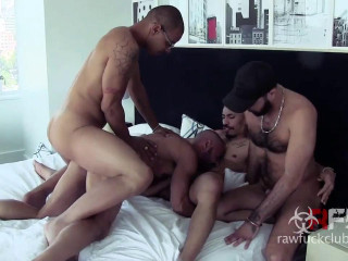 Rough Gang Bang With Muscle Breeders