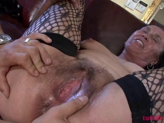 Hairy Mature anal casting