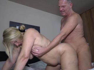 German Blonde Succulent Susi Gets Spunk On Her Huge Tits