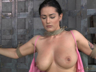 Newbie Katrina Jade with natural big breasts in Hard Bdsm Action