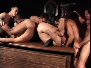 Leather Retro Group Sex