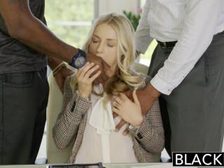 Perfect Blonde With 2 Monster Black Cocks - Karla Kush, Flash Brown & Jovan Jordan