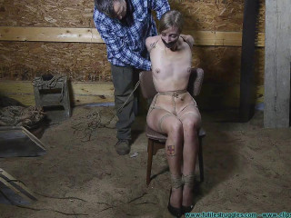 Illustrious Rouge is Welcomed Back with a Tight Crotchrope and a Hooded Hogtie 3 part