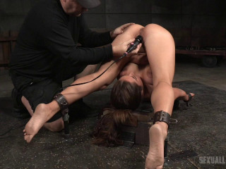 Gigantic boobed Jean Michaels folded in half in stringent piledriver and toughly plumbed by big BBC!