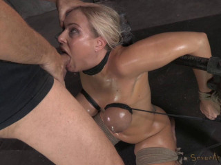 Astounding deepthroat done by chesty blonde Angel Allwood