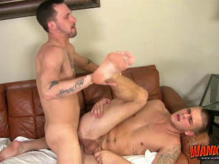 WankThis - James Hamilton and Trent Ferris Barebacking on the Bed
