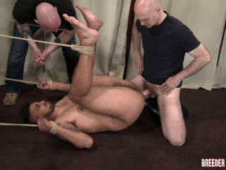 BreederFuckers Liam 8th video - Liam Tied Up On The Floor & Fucked