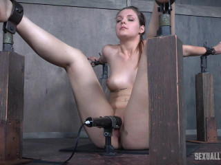 Local school coed is severely bound, vibrated to several orgasms and face plumbed into subspace!