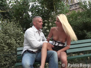 Good fuck girl on the bench