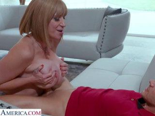 Sara Jay prefers a young mans hard cock any time, anywhere