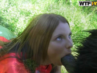 Horny Panda Fucks Little Red Riding Hood With A Strapon