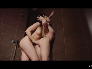 Hungarian and Russian Sicilia and Taissia Shanti make love in the shower