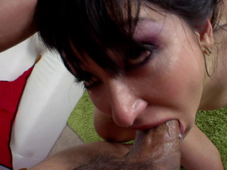 Roxy plays with toys and dick