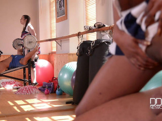 Cheerleader Boot Camp - Hot Babes Get Their Cunnies Filled