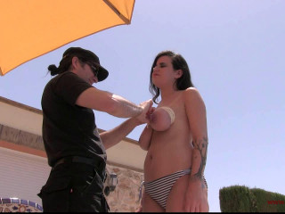 Toaxxx - Extreme Melon Restrain bondage in the Sun