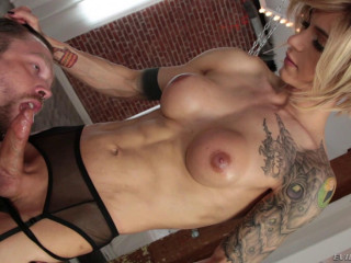 Blonde Transsexual With Hard Dick