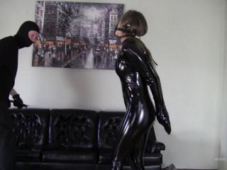 Cobie: Bound into Fetish - Tall Babe in Latex Bondage 1080p