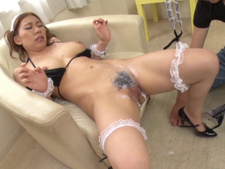 Obedient Busty Maid: Love Milk As Lotion