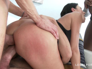 Busty slut with big ass in hardcore DP orgy