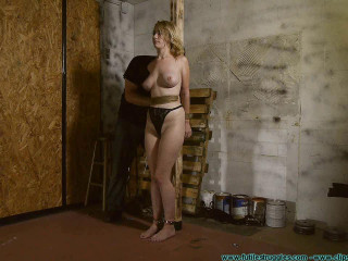 Allegra HogCuffed, Groin Chained, then Groin Tied