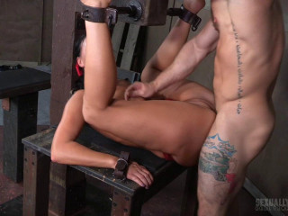 London River Can't Stop Cumming When Bound with Rough Anal Sex!