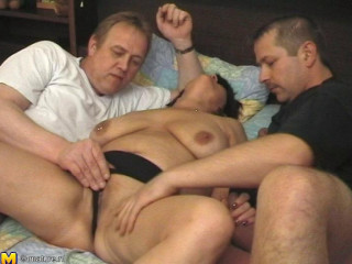big tit mature karen in gang-bang