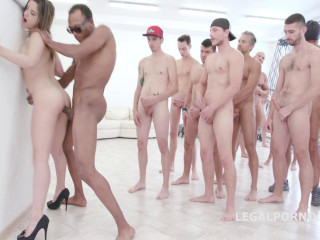 Amazing 15on1 TP GangBang with Russian babe