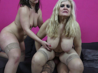 2 busty matures have fun with tattoed guy full hd