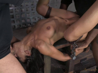 Skinny Latina Lyla Storm completely demolished by cock!