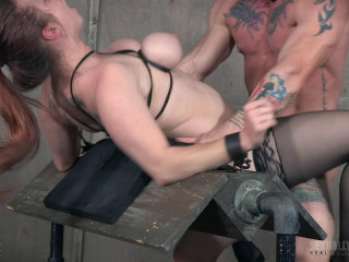 Chesty Bella Gorgeously Corded Rearwards Beaten with Boners! Part 2