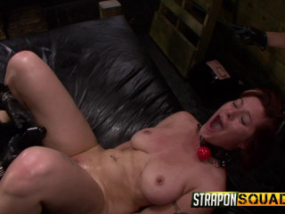 Pain Sub Slut Alessa Snow Endures Lesbian Domination
