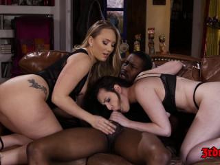 AJ Applegate, Casey Calvert - Awesome Interracial Threesome (2019)