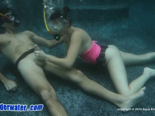 Kinky underwater action