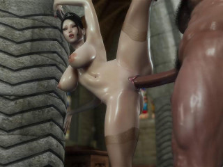 Beauty Lady Karen Destroyed By Big Orc
