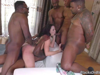 Gangbang Her Little White Thang!