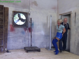 Brutally hogtied & hoisted off the floor