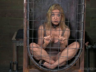 Darling blindfolded, caged and tagteamed by dick , HD 720p