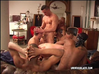 Raw orgy with huge black cocks