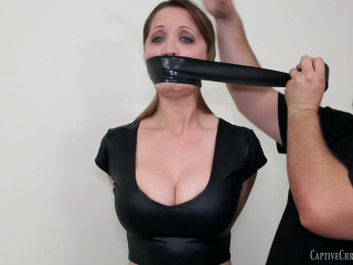 Tight bondage, domination and mummification for young girl