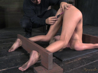 Roxy Rox trussed in a piledriver