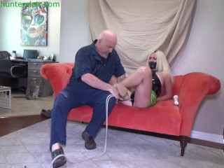 Buxon beauty breast bound, ball tied for bound orgasms